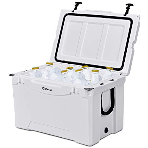 Giantex 80 Quart Portable Cooler Rolling Ice Chest Outdoor Insulated Heavy Duty Cooler with Castors for Fishing Hunting Sports