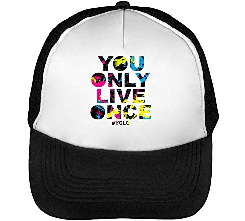 #Yolo | Joke & Funny Tshirt Collection By Positive Tees | 100% Ring-Spoon | Nice To Gorras Hombre Snapback Beisbol Negro Blanco