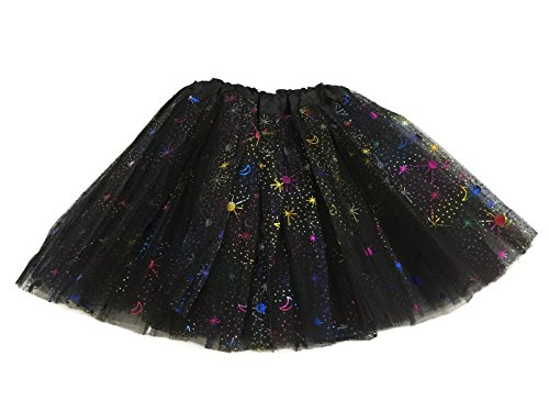 Rush Dance Ballerina Recital Colorful Halloween Space Moon Star Costume Tutu