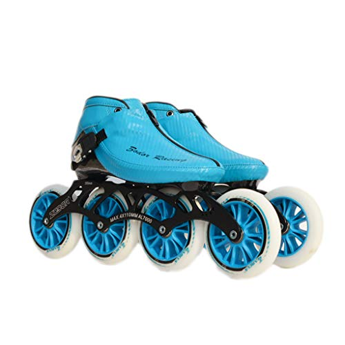 ラフレシアアルノルディ別の検証NUBAOgy インラインスケート、90-110ミリメートル直径の高弾性PU車輪、子供のための調整可能なインラインスケート、2色で利用可能 (色 : 黒, サイズ さいず : 41)
