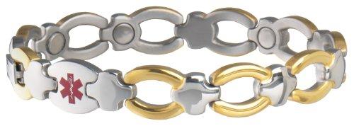 (Sabona Ladies Diabetic Med Id Magnetic Bracelet, S/M)