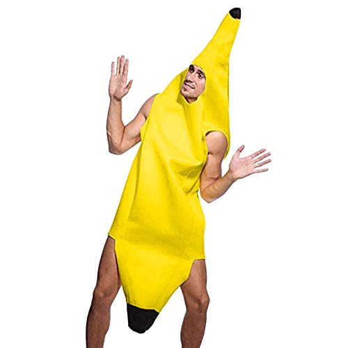 Adult Costume Banana Suit, Lightweight Cosplay Funny Sexy Inflatable Party Banana Fruit Dress Up Novelty Decorations (M, -