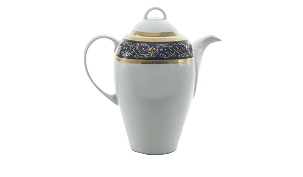 Bohemia Saphyr Greca Cafetera, Porcelana, Azul, 12x12x28 cm ...