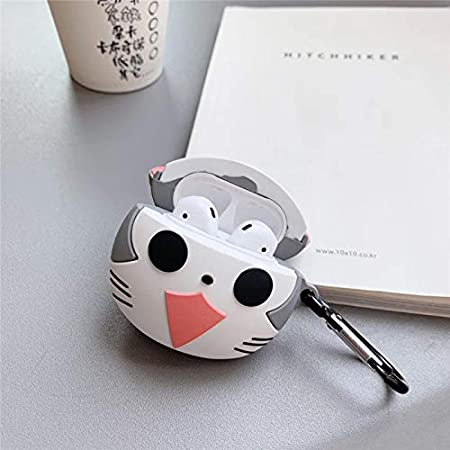 Cute Pet Design LEWOTE Airpods Silicone Case Cover Compatible for Apple Airpods 1/&2 Best Gift for Girls or Boys Man Woman Cat