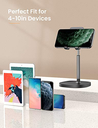 Cell Phone Stand, Angle Height Adjustable LISEN Phone Stand For Desk, Thick Case Friendly Phone Holder Stand For Desk…