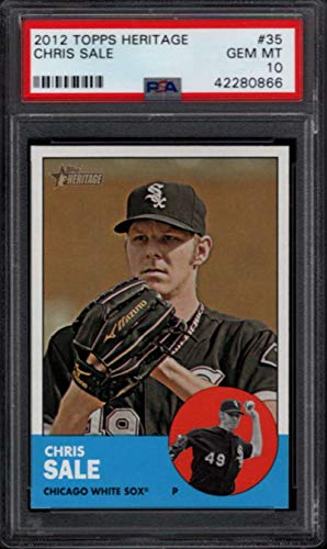 2012 Topps Heritage Football - 2012 Topps Heritage #35 Chris Sale Chicago White Sox PSA 10 1468