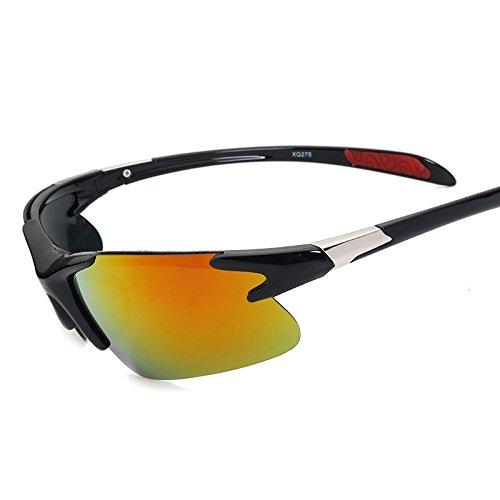 De Sol Naranja Conducción Hombres Para Polarizadas Orange Gafas Gafas Reborde TIANLIANG04 Negro Gafas De De Black Luz Espejo Sol De Semi qwtTaYZ