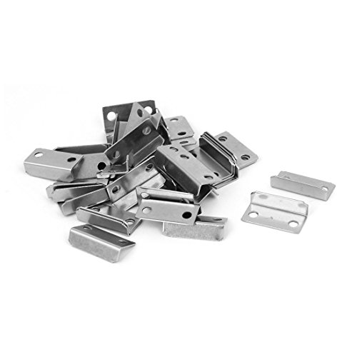 (uxcell Home Cabinet Drawer Door 29mmx14mmx8.5mm L Shaped Metal Lock Strike Plate 40pcs)