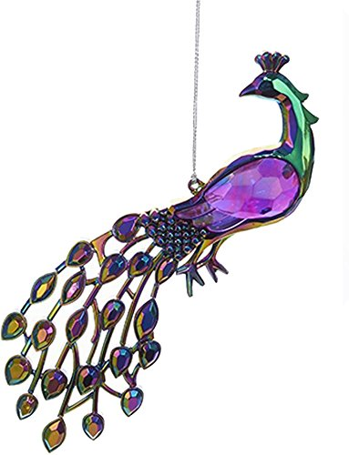 Acrylic Peacock Bird Ornament 5 inch (B)