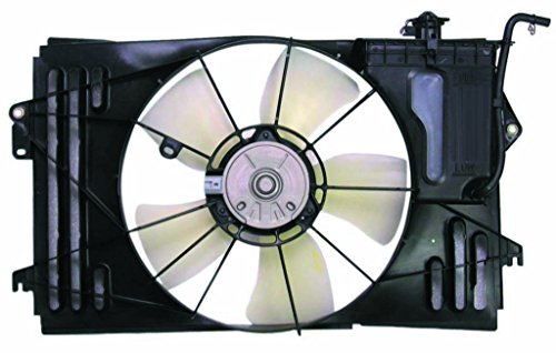 (Dual Radiator and Condenser Fan Assembly - Pacific Best Inc For/Fit TO3115125 03-08 Toyota Corolla ex.XRS 03-08 Matrix 03-08 Pontiac Vibe COLOR MAY VARY)
