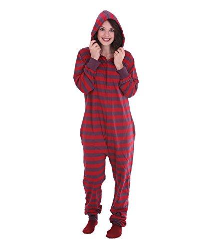 Schlafoverall Retro FUNZEE ONESIE Erwachsenenstrampler, Ganzkörperschlafanzug, einteiliger Pyjama, Schlafanzug, körpergrößenabhängige Unisexgrößen in XS-XXL
