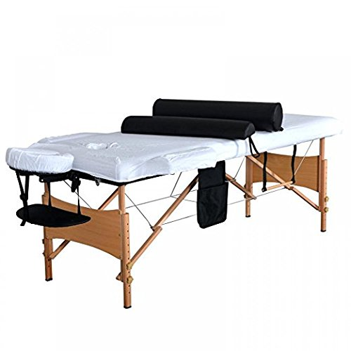 84''L 3 Fold Massage Table Portable Facial Bed W/ Sheet Bolsters Carry Case 3 by BestMassage (Image #2)