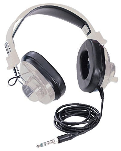Califone Stereo 2924avps - Califone 2924AVPS Deluxe Stereo Headphones, Rugged Polypropylene Headstrap and ABS Plastic Earcups Hold Up to Continued Usage in High-Use Settings, Adjustable Headband with Comfort Sling Fits All Students