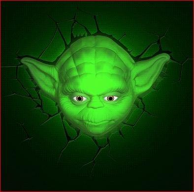 Yoda 3d deco superhero wall night light amazon yoda 3d deco superhero wall night light aloadofball Images