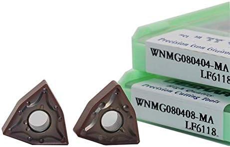 Txrh Drehbank WNMG080404 MA MS MQ Carbide WNMG 080.408 Cutter CNC-Drehmaschine Externe Drehwerkzeug Edelstahl (Insert Width(mm) : WNMG080404 MS LF6118, Shank Diameter : 100PCS)