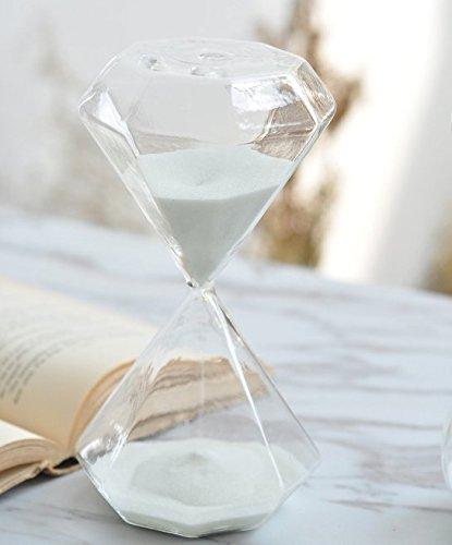 Diamond Hourglass (Graces Dawn Diamond glass hourglass 15 minutes with (white))