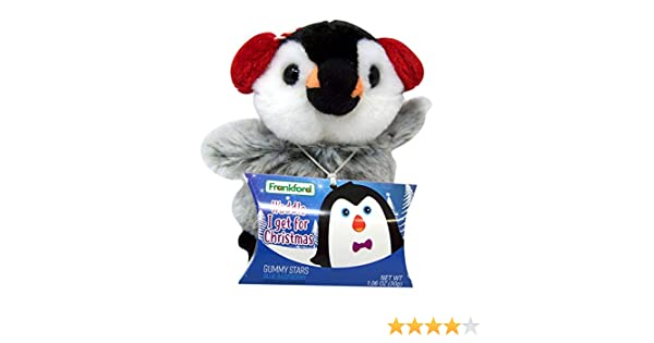 Frankford Penguin Stuffed Animal Plush Toy Christmas Holiday Stocking Stuffer Gift with Gummy Candy