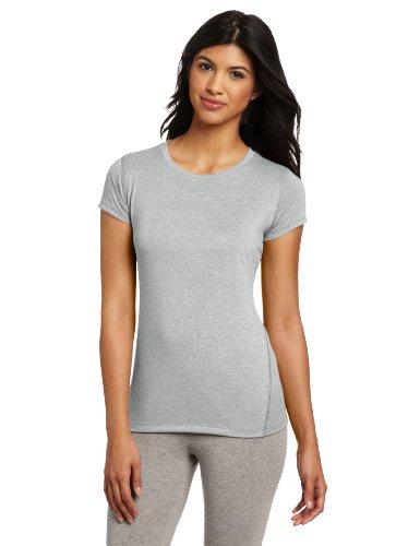 New Balance Women's Heathered Short Sleeve Tee, Athletic Grey, Small