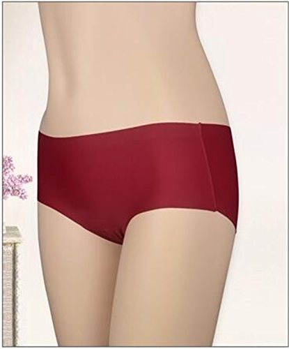 YALL-La Sra primavera y el verano de ropa interior transparente seda del hielo, calzoncillos de cintura baja de la cadera jred