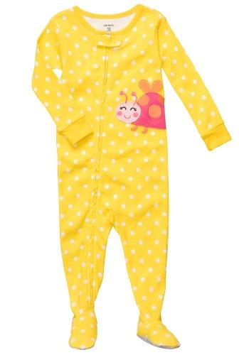 - Carter's Polka Dot Ladybug Pajamas YELLOW 12 Mo