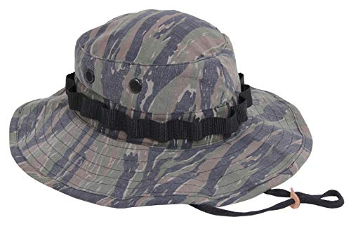 Rothco Vintage Vietnam Style Boonie Hat, Tiger Stripe Camo, 7 1/2 (Tiger Stripe Camo Boonie Hat)