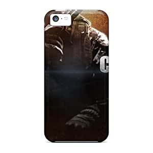 Iphone 5c Case Cover - Slim Fit Tpu Protector Shock Absorbent Case (call Of Duty Black Ops 2 2013 Game)