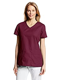 Dickies womens Eds Signature V-neck Top With Multiple Patch Pockets