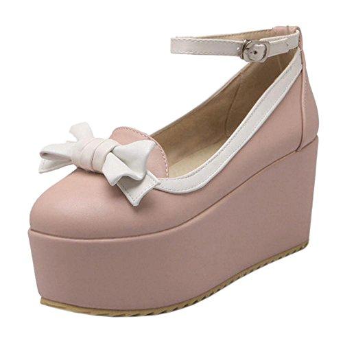 Coolcept Zapatos de Tacon Alto con Plataforma para Mujer Pink