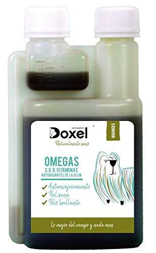 Doxel Senior-100ml Aceite para perros| Suplemento| Antiinflamatorio| Anti envejecimiento| Articulaciones sanas| Sistema inmunitario| Ácidos grasos ...