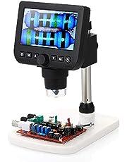 """W-SHTAO L-WSWS Lupas Microscopio Digital Inspección 4.3"""" Salida de TV LCD 800X Magnicication 3.0MP de vídeo/Foto Captura Lupa con el Soporte y 8pcs LED Fuente de luz Ajustable"""