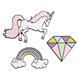 Enamel Brooch Pin Sets for Unisex Children Zinc Alloy Cute Mini Cartoon Rainbow Cactus Lapel Pin for Backpack Decor