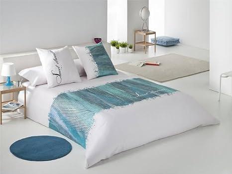 Funda Nordica Turquesa.Funda Nordica Sweet Cama 150 Cm Azul Turquesa Amazon Es