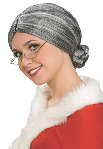 Rubie's Characters Old Lady / Mrs. Santa Wig, One Size ()