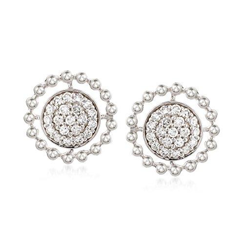 Ross-Simons 0.27 ct. t.w. Diamond Circle Earrings in 14kt White Gold