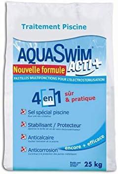 Kalendo P4668 - Sal de Piscina para electrolisis Aquaswim Acti + 4 en 1 P4668 • Piscina/SPA/Sauna • El Universo del jardín