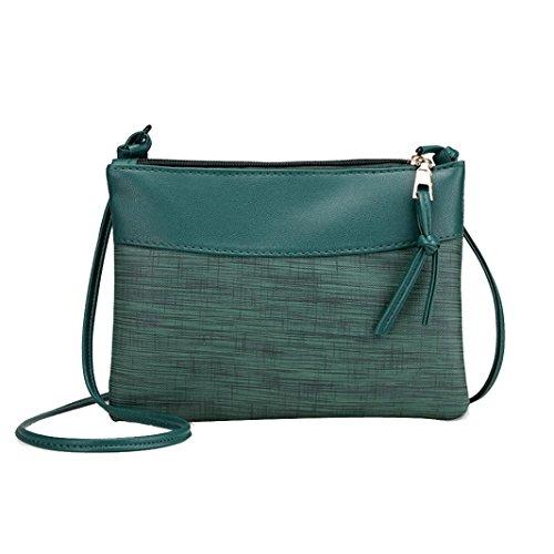 Clutch Soft Phone Bag PU Wristlet Women Crossbody Leather Cell Purse Green TIxd7wOqw
