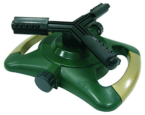 Bond 70032 Spinning Sprinkler With Plastic Base, Zinc Arms & Tips And Add-On Capability