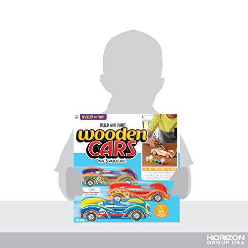 Made By Me Build & Paint Your Own Wooden Cars By Horizon