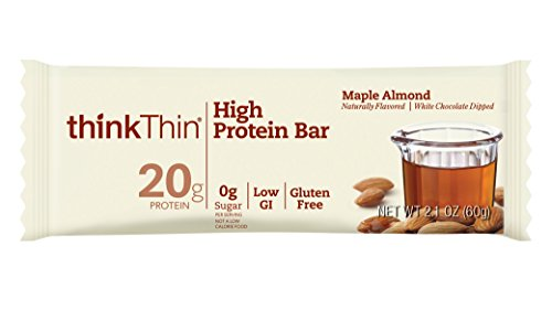 Maple Almond - thinkThin High Protein Bars, Maple Almond, 2.1 oz Bar (10 Count)