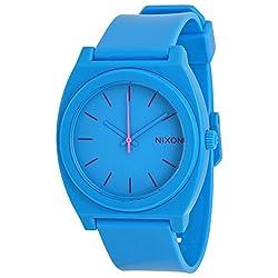 Nixon Men's A119-606 Minimal The Time Teller Blue Polycarbonate Analog Watch