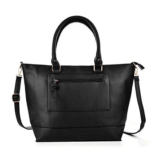 Cartable Femme Jaunâtre Sacoche Nouveau GWQGZ Sac Black Sac Riz À Mode Bandoulière Mode z4Rn1