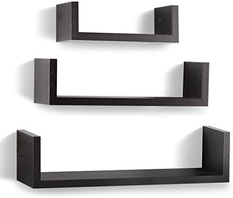 home, kitchen, home décor, home décor accents,  floating shelves 12 picture Floating Shelves Set of 3 Wall Shelves - Espresso promotion