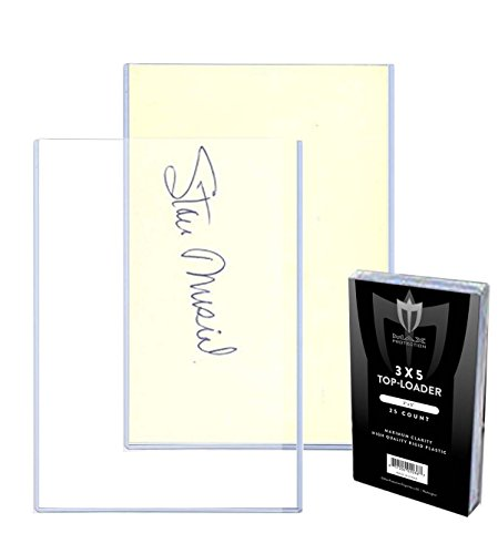Postcard Holders Sleeves - (100) 3x5 MAX Pro Card Photo Hard Rigid Ultra Clear Toploader Holder - 100ct