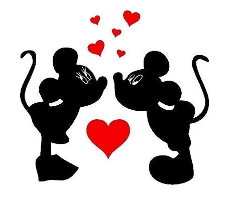 Mickey Minnie Mouse Herz des personalisierten Aufklebers des ...