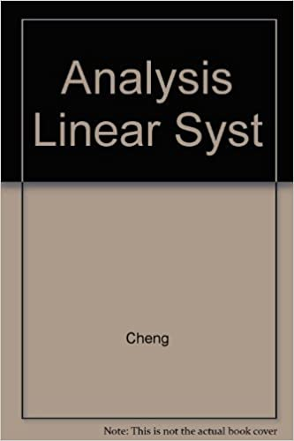 analysis of linear systems by david k cheng free download