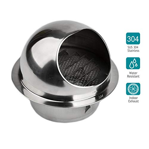 Wall Ventilation - HG POWER 304 Stainless Steel Air Vent Round Grille Ventilation Cover Wall Vent Outlet 4 Inch
