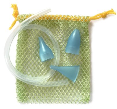 BabyComfy Nose Nasal Aspirator REPLACEMENT SET - The Snot Sucker (BLUE)