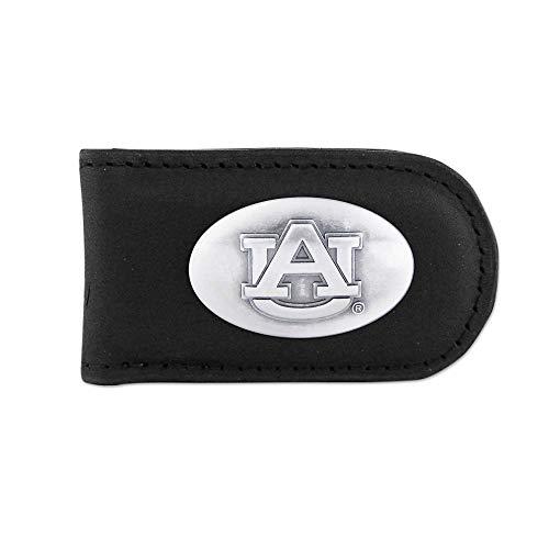 NCAA Auburn Tigers Black Leather Magnet Concho Money Clip, One - Auburn Money Clip Tigers Black