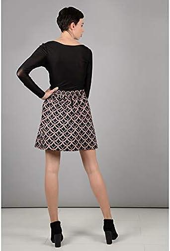 MOLLY BRACKEN - Falda - para Mujer Negro X-Small: Amazon.es: Ropa ...