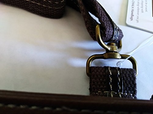 with Small Dark Pack SWING Chala Keychain Purse Dragonfly Body Metal Mini Cross Brown aBYwwx